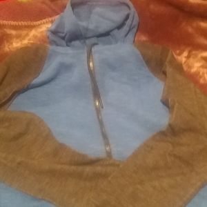 NWT MEN'S HAWK BLUE WITH DARK GRAY SLEEVES HOODIE